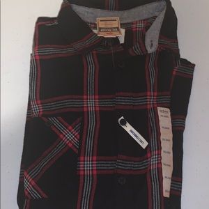 Checked flannel shirt size 2XL red and black
